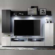 Black High Gloss Living Room Furniture Delta Living Room Furniture Set 2 In White And Black High