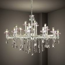 hanging modern crystal chandelier lighting with stainless steel