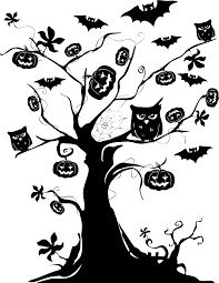 halloween trees pumpkins background happy halloween text png mart halloween landscape page page