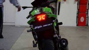 ninja 300 integrated tail light ninja 300 led integrated tail light fender eliminator kit