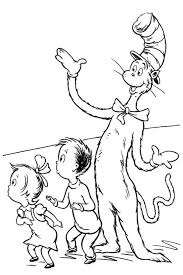 amazing dr seuss coloring pages cat hat