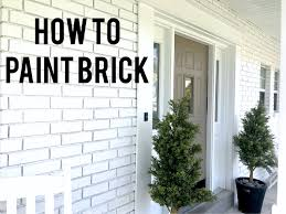 Painting Exterior Brick Wall - my home start at home decor