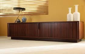 sideboard low u0026 long tambour door credenza sideboard mid century
