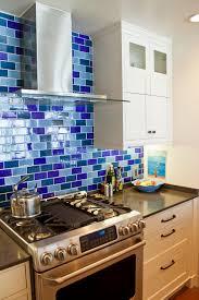 Mosaic Tiles Kitchen Backsplash Blue Kitchen Backsplash Tile Kitchens Design