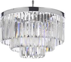 Chandelier Pics Odeon Crystal Fringe 3 Tier Chandelier Chrome Transitional