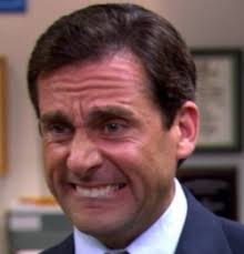 Excited Face Meme - michael scott cry face this is my face most of the time lol