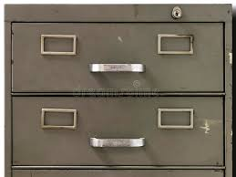Metal Filing Cabinet Drawers Of An Old Metal Filing Cabinet Stock Photo Image 43977945