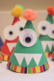 repeat crafter me monster party hats fun ideas with the kids