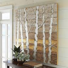 metallic birch trees wall art pier 1 imports