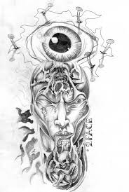 horror tattoo u2013 eye face flash design tattoo ideas pinterest