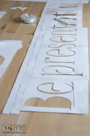 how to stencil words on a wall sew a fine seam