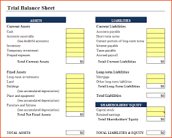 Excel Balance Sheet Template by 6 Excel Balance Sheet Template Bookletemplate Org