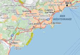 map of antibes cannes map detailed maps for the city of cannes viamichelin