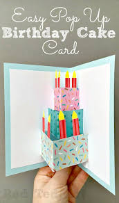 easy pop up birthday card diy red ted art u0027s blog