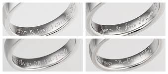 engraving inside wedding band inside ring inscriptions