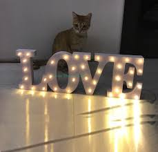 light up letters diy light love batteries operated not included led marquee sign