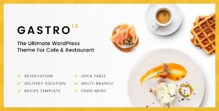 gastro multipurpose cafe u0026 restaurant wordpress theme by twisttheme
