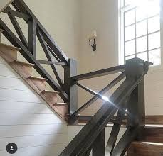 Staircase Banister Best 25 Farmhouse Stairs Ideas On Pinterest Cottage Cottages