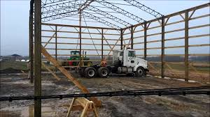 how to build a big pole barn youtube