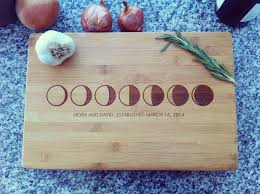 engravable cutting boards personalized cutting board custom chopping block moon phases