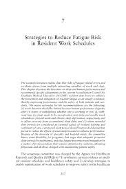 Resume Security Clearance Example by 7 Strategies To Reduce Fatigue Risk In Resident Work Schedules