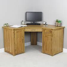 solid oak corner home office desk
