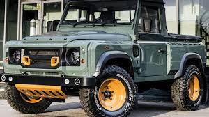 land rover kahn kahn design customizes the land rover defender pick up