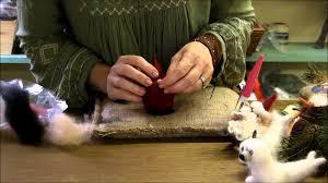 how to needle felt ornament series santa by sarafina fiber art