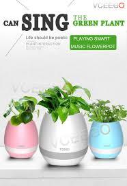 sale smart music flower pot intelligent sensor colorful light