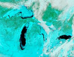 Great Lakes North America Map by A Great Freeze Over The Great Lakes Image Of The Day