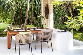 Outdoor Wicker Dining Chair Dining Room Fascinating Outdoor Dining Table Using Brown Wicker