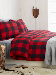buffalo check flannel duvet cover set simons maison shop duvet