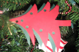 christmas craft projects for kids paper tree ornament kraftykid