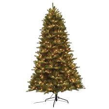 balsam christmas tree santa s workshop 7 5 ft pre lit mixed balsam pe and pvc