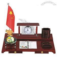 wooden base table gift set with pen holder globe desk calendar memo holder