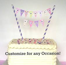 banner cake topper cake topper banner best toppers ideas on bunting and pennant