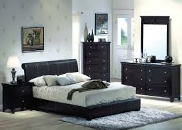 Bedroom Wall Color With Dark Furniture Fabulous Table Lamp On Dark Nightstand Inside Brown Bedroom Ideas