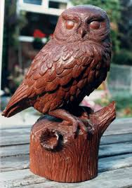 owl wood carving bespoke carving a nine inch owl carved from mahogany which