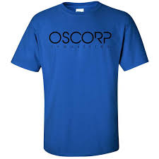 oscorp industries spiderman movie merch comic con tees mens