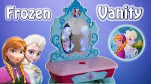 frozen vanity table toys r us frozen elsa anna crystal kingdom vanity toys video youtube