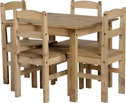 Waxed Pine Dining Table Panama 4 Seater Wax Pine Wooden Dining Set Table 4