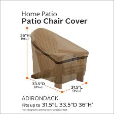 Amazon Patio Furniture Covers by Amazon Com Classic Accessories Hickory Heavy Duty Adirondack
