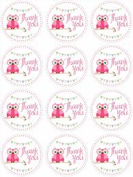 shower thank you tag template printable baby shower favor thank
