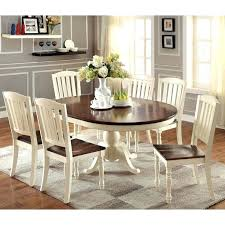 double pedestal oval dining room table with leaf white butterfly