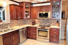 tiles backsplash inspiration kitchen enchanting brown wooden