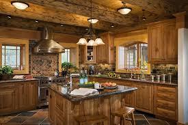 Log Home Decorating Beautiful Log Home Kitchens