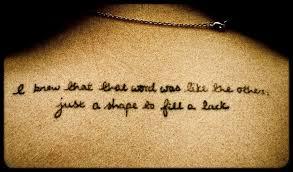 my literary tattoo little interpretations