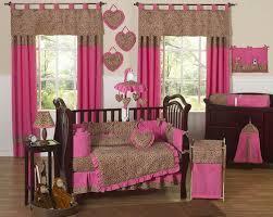 Pink Brown Crib Bedding Pink Brown Cheetah Print Baby Bedding 9pc Nursery Crib Set