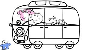 peppa pig bus coloring pages peppa coloring book раскраска