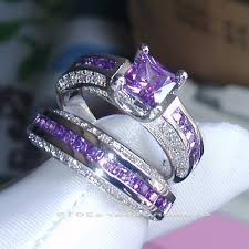 amethyst engagement ring sets wedding rings sam s club bridal sets matching wedding bands for